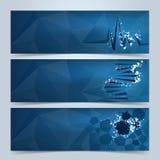 Медицинские знамена или комплект заголовка вебсайта иллюстрация вектора