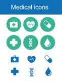 Медицинские значки, вектор значков Стоковые Изображения