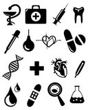 Медицинские значки Стоковое Изображение RF