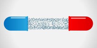 Медицинские капсула и молекула Стоковые Фото