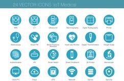 Медицинские комплекты значка модальности иллюстрация штока