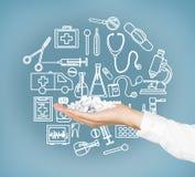 Медицинские помощь и исследование Стоковые Фото
