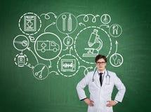 Медицинские помощь и исследование Стоковые Изображения