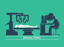 Медицинский вектор значка робота Стоковые Изображения