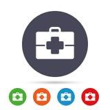 Медицинский значок знака случая Символ доктора иллюстрация штока