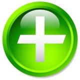 Медицинский, здравоохранение, скорая помощь плюс, перекрестный значок Лоснистый круг b иллюстрация вектора