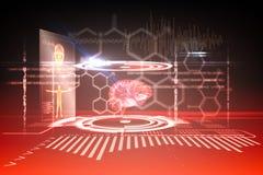 Медицинский интерфейс в черной и красной Стоковая Фотография