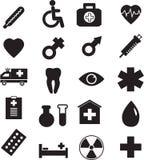 Медицинский комплект значка, вектор Стоковое Фото