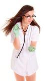 Медицинский персонал Doktor изолированный на белой предпосылке Стоковое Фото