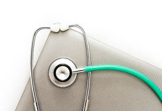 Медицинский стетоскоп. Стоковое Фото