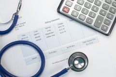 Медицинский счет Стоковое Изображение RF