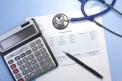 Медицинский счет Стоковые Изображения RF