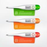 Медицинский термометр infographic Стоковые Изображения RF