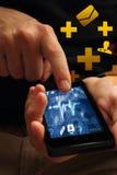 Медицинский телефон app Стоковая Фотография RF