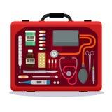 медицинский чемодан иллюстрация штока
