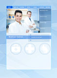 Медицинский шаблон вебсайта Стоковое фото RF
