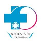 Медицинский шаблон дизайна логотипа Стоковые Изображения RF