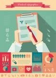 Медицинский шаблон Infographic. иллюстрация штока