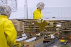 Медицинское вакционное производство - фармацевтическая промышленность Стоковые Фото