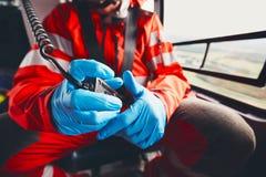 Медицинское обслуживание аварийной ситуации вертолета Стоковая Фотография RF