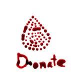 Медицинское донорство крови Клетки крови сделанные точек Стоковое Фото