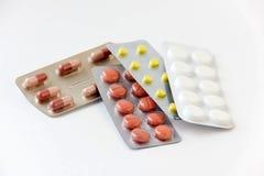 Медицины и таблетки в волдырях Стоковое Фото