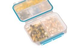 Медицины для различных типов коробки пилюльки Стоковое Фото