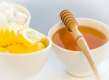Мед и сахар Стоковое Изображение RF