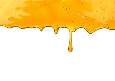 мед капания dipper деревянный стоковая фотография
