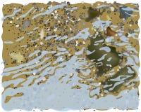 Мелководье моря Иллюстрация вектора