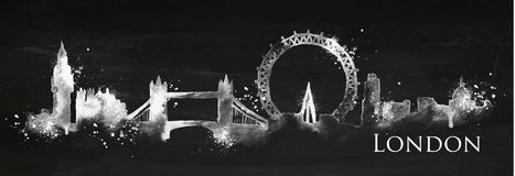 Мел Лондон силуэта иллюстрация штока