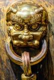 Медная голова дракона Стоковое Фото