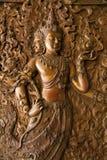 Медная доска гравируя Будду Стоковое Фото
