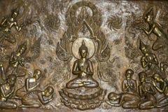 Медная доска гравируя Будду Стоковые Изображения