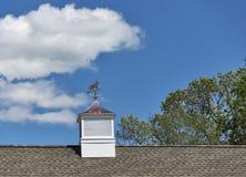 Медная лошадь на weathervane крыши Стоковое фото RF
