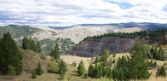 Медная шахта горы Стоковая Фотография