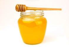 Мед на белизне Стоковая Фотография RF