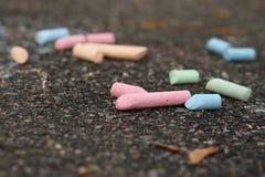Мел на тротуаре Стоковая Фотография RF