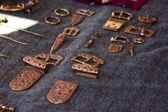 Медные этнические barrettes ювелирных изделий, пряжки, фибулы стоковая фотография