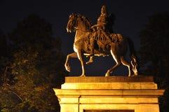 Медный памятник всадника к Pyotr 1 Стоковые Изображения