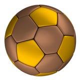 Медный футбольный мяч при золотые точки, изолированные на w Стоковое Изображение