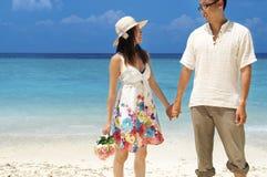 медовый месяц пар Стоковое фото RF