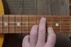 Мелодия старой винтажной гитары Стоковые Фото