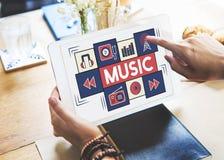 Мелодия тональнозвукового искусства музыки целесообразная играя концепцию Стоковое Изображение RF