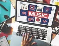 Мелодия тональнозвукового искусства музыки целесообразная играя концепцию Стоковые Фотографии RF
