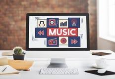 Мелодия тональнозвукового искусства музыки целесообразная играя концепцию Стоковое фото RF