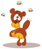 мед пчелы медведя Стоковое Фото