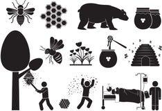 Мед-пчела Стоковые Фотографии RF