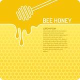 Мед пчелы иллюстрации вектора Стоковые Фотографии RF