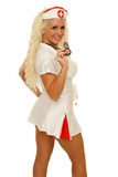 Медсестра с знаком сердца Стоковые Фото